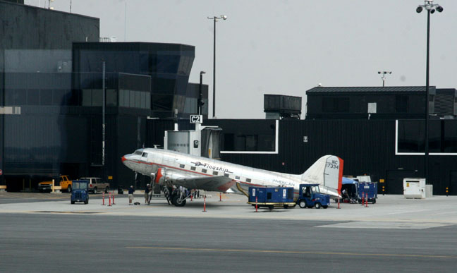 A fully restored DC-3, all time classic aircraft