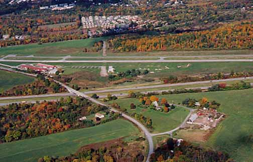 Many people love to fly a small plane.   This is Randall airport in Middletown, NY   home to some gliders and ultralights.