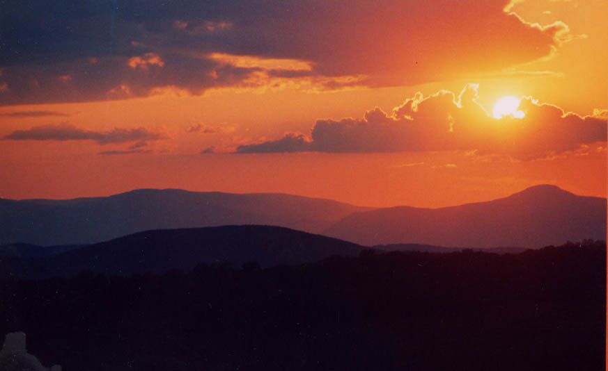 Sunset over Slide Mountain, Catskill, NY