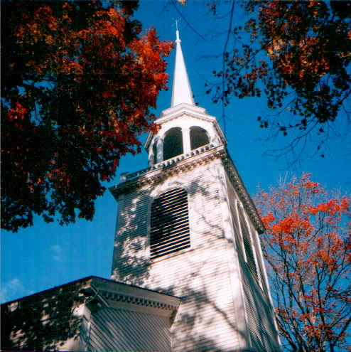 Congregational church in Fairfield, CT in classic New England style.